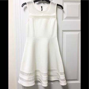 Gorgeous Lulu's fit and flare mesh inset dress